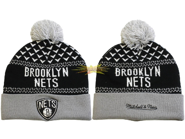 Nouveau Tricoter un Bonnet 2017 Brooklyn Nets Gris NO.09